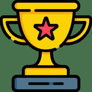 celebrate victory trophy