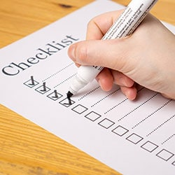 checklists items