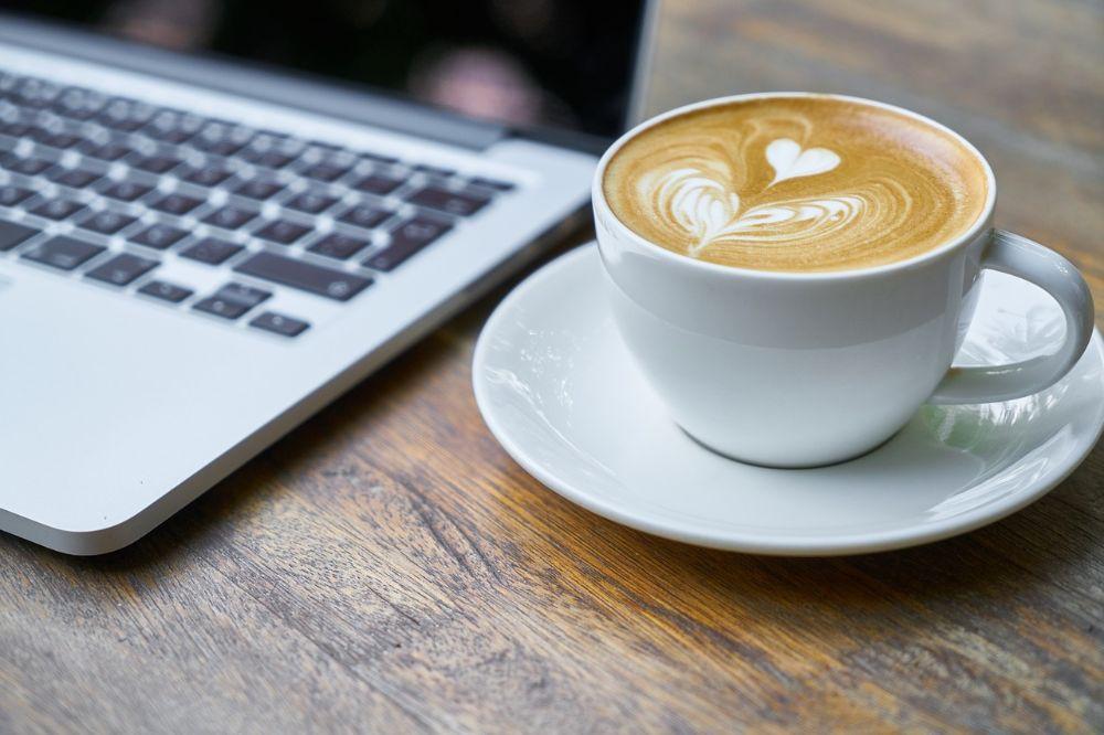 computer laptop coffee