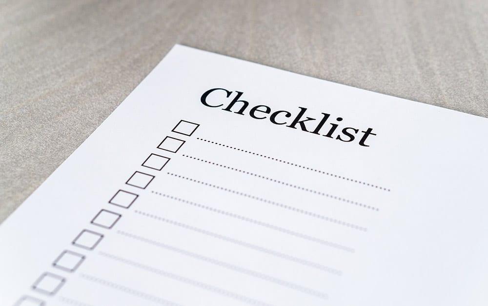 contextual checklists