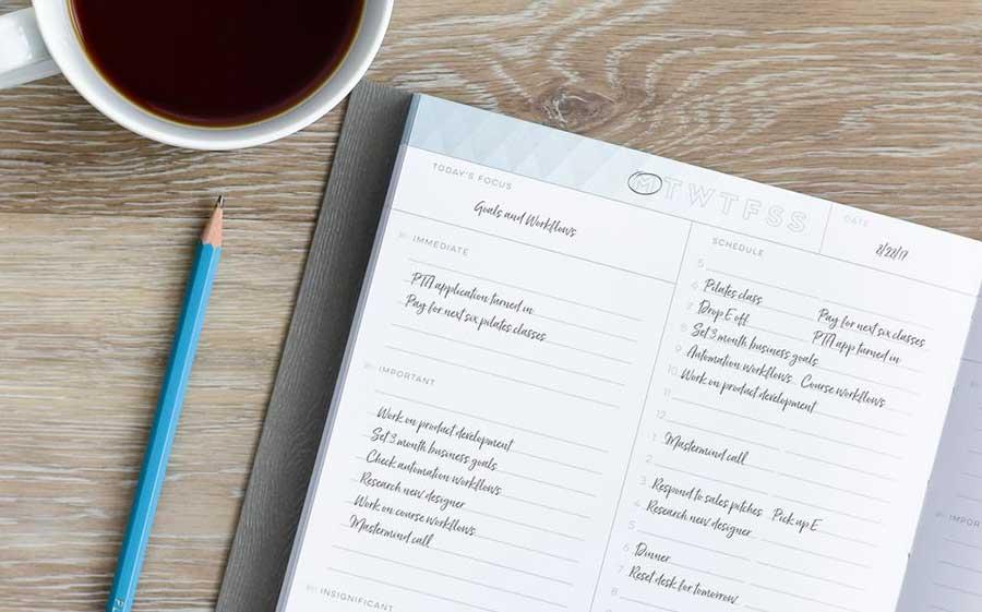 organize writing schedule
