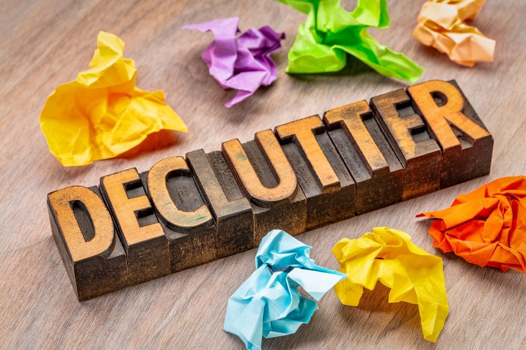 declutter clean organize