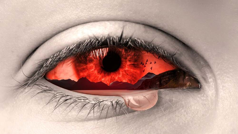 eye tear emotional pain