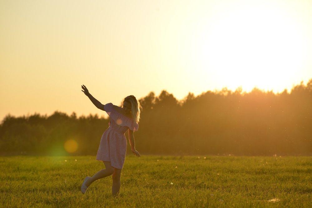 free happy sunny field