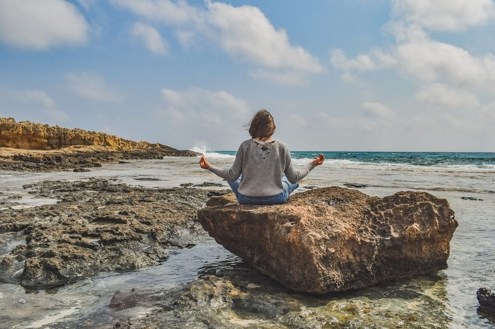 girl meditation serenity