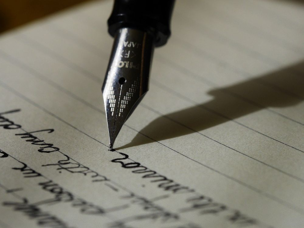 hand writing fountain pen