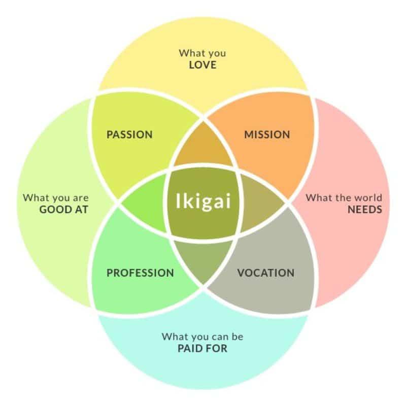 ikigai diagram life purpose