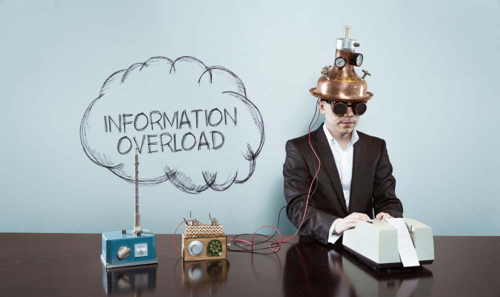information overload man