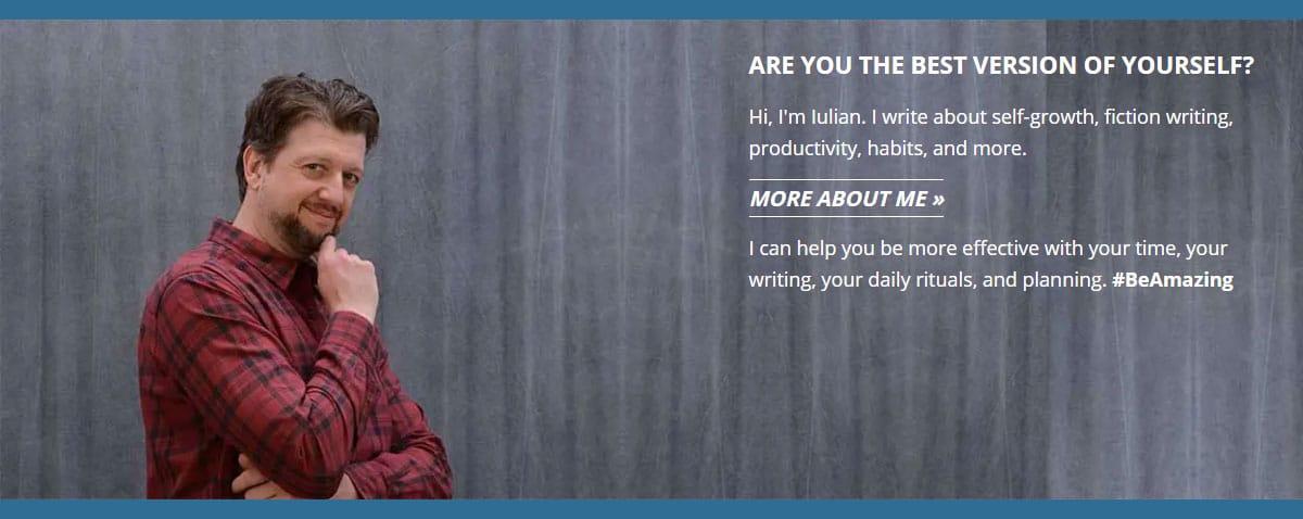 Iulian Ionescu Self-Growth Journey Homepage