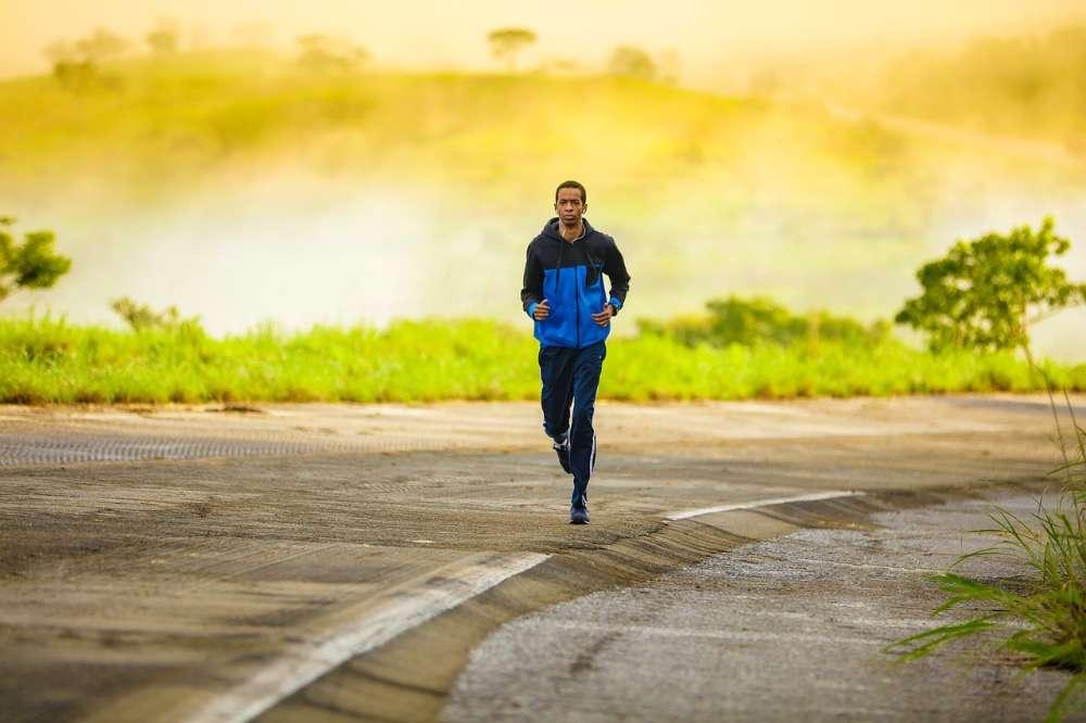 jogging track man running