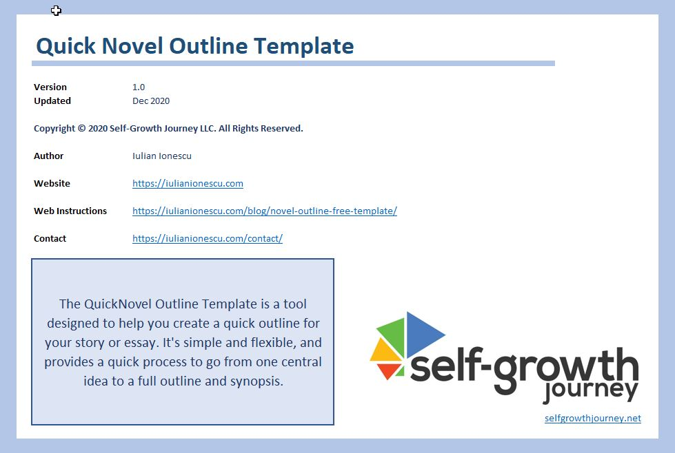 novel outlining tool