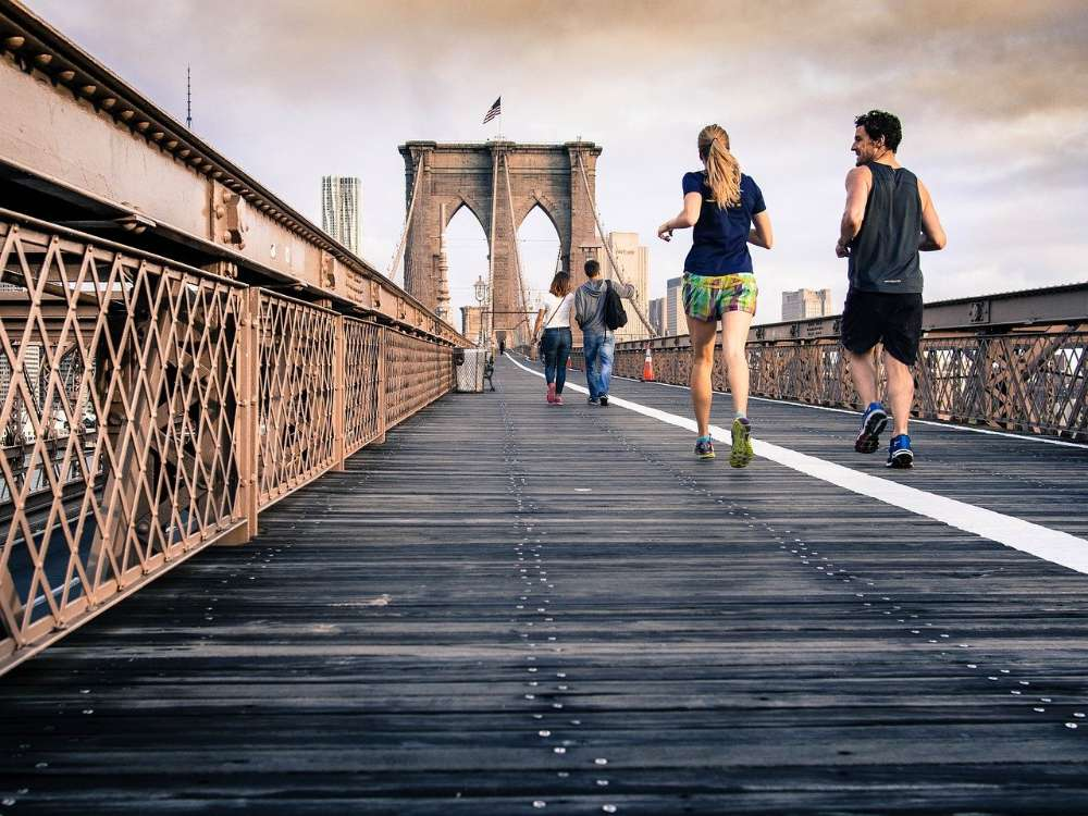 running jogging bridge