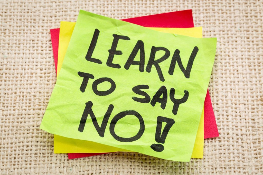 saying no how to say no