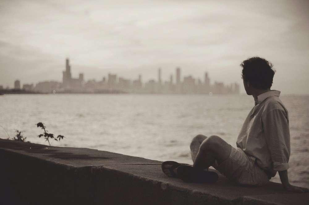 seaside man thinking
