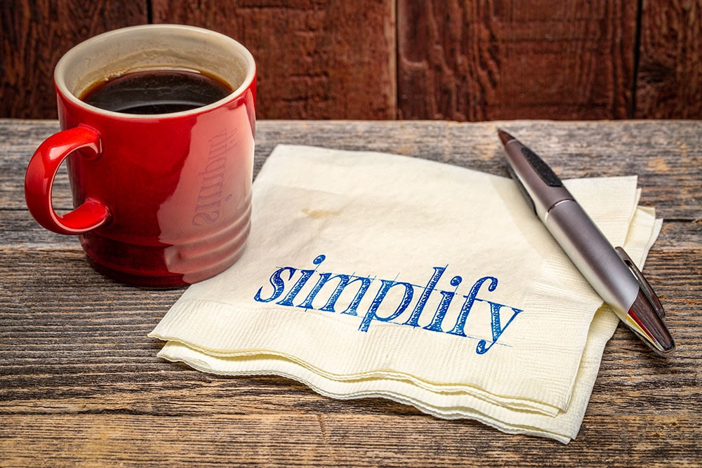 simplify organize how to declutter