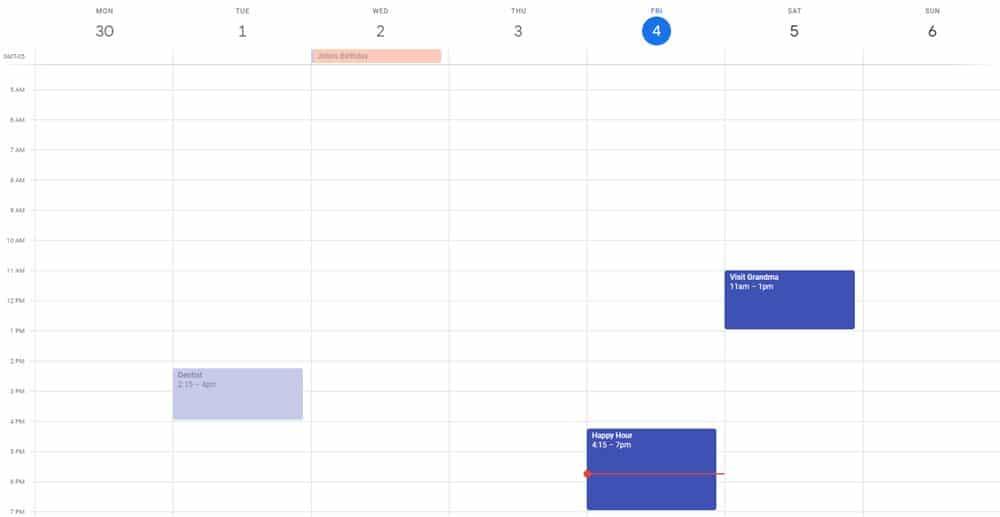 calendaring before