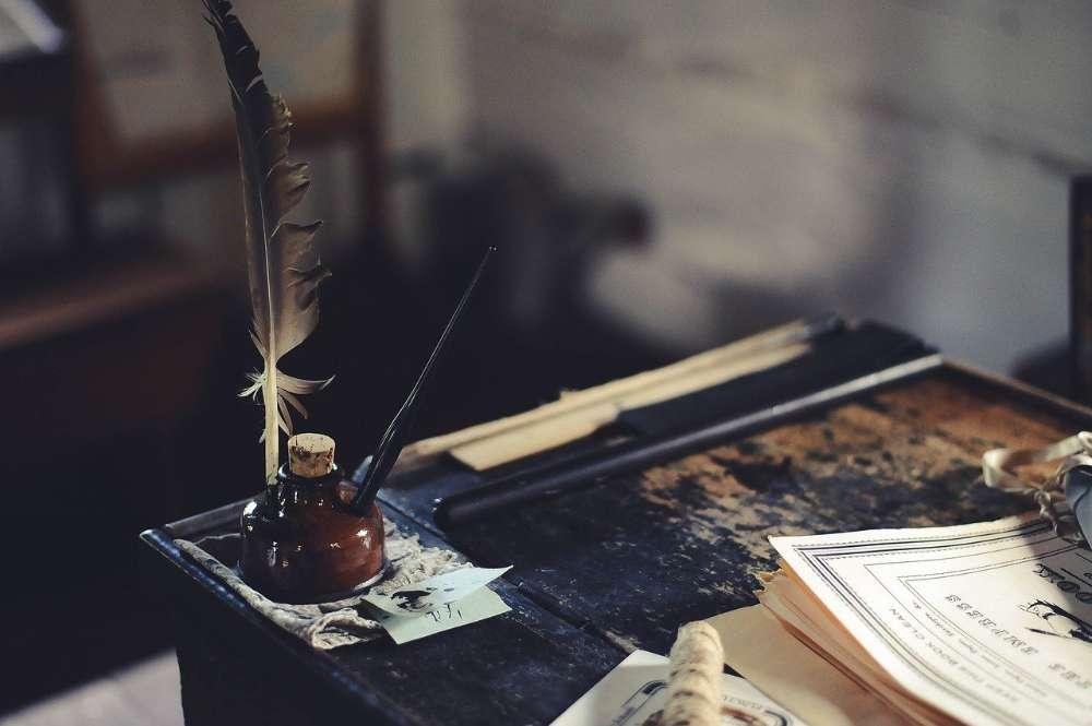 typewriter ink writing