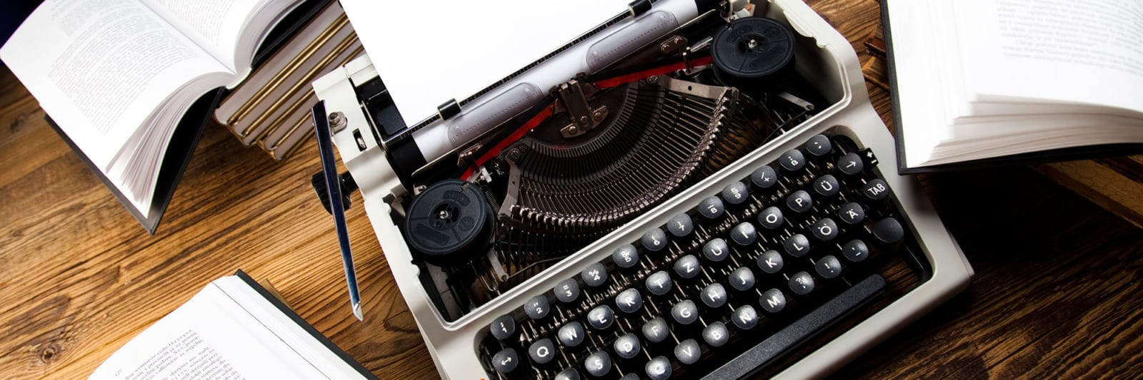 typewriter writing short stories