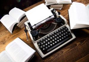 typewriter writing short stories