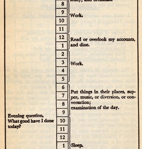 benjamin franklin virtue tracking journal