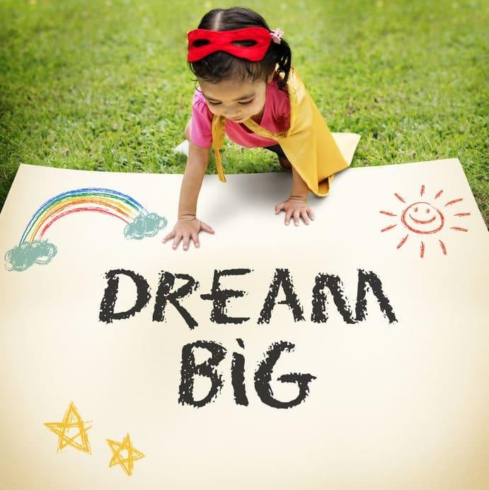 vision dream big kid