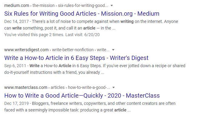 write an article titles headlines