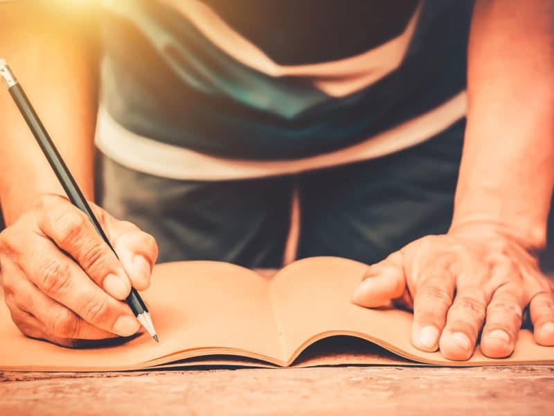 writing long hand script