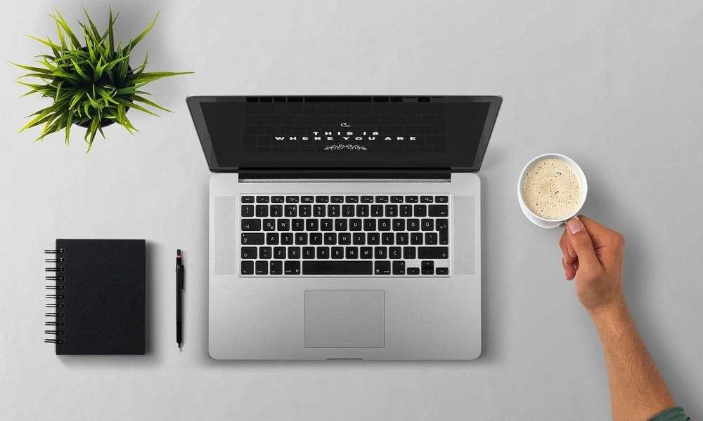 writing skills laptop typing