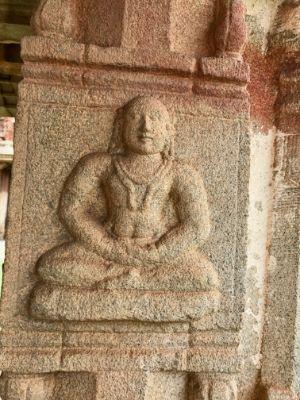 yogi meditating temple